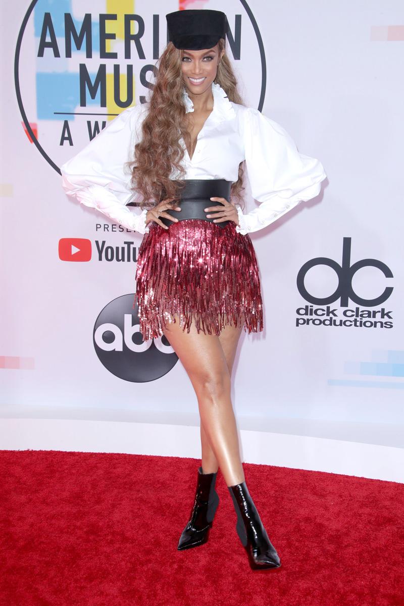 Tyra BanksAmerican Music Awards, Arrivals, Los Angeles, USA - 09 Oct 2018