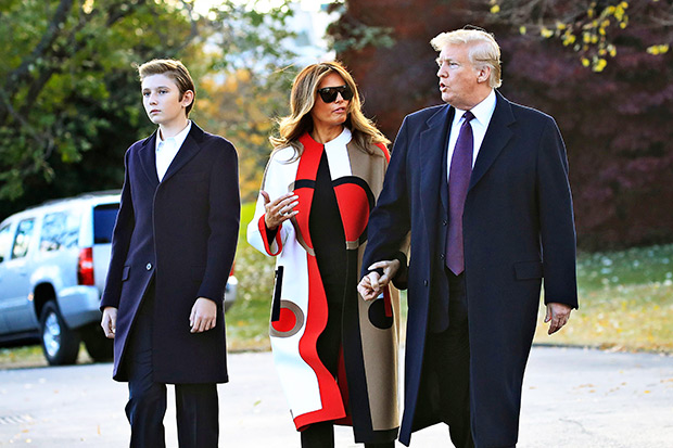 Barron, Melania And Donald Trump