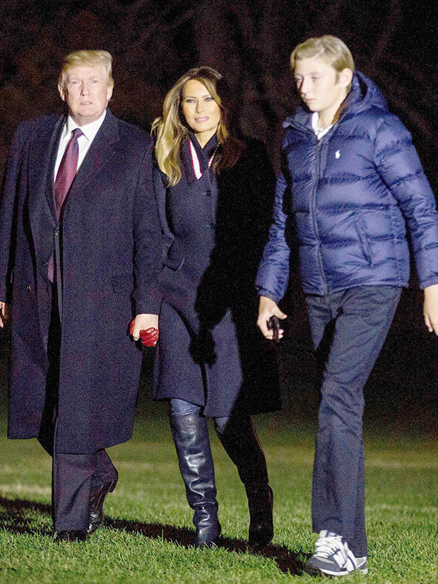 Barron, Melania & Donald Trump