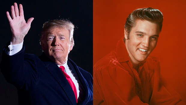 Trump Elvis Presley Look Alike Potus Thinks They Do Twitter Reacts Hollywood Life