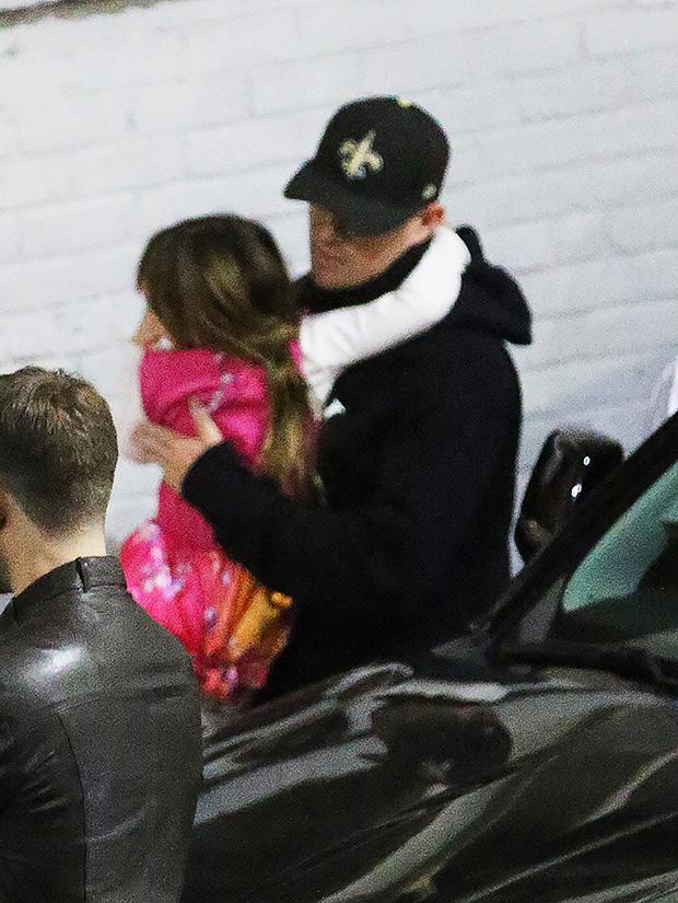 Channing Tatum & Daughter at Jessie J's concert