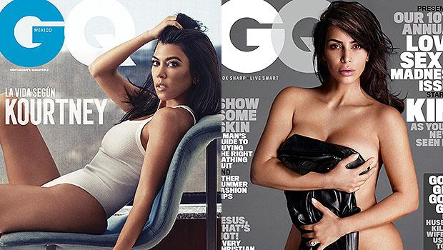 Kourtney & Kim Kardashian GQ Covers