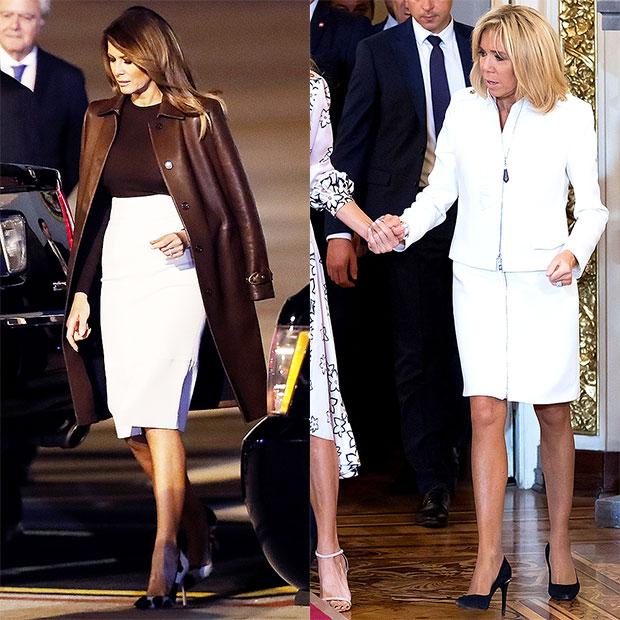 Melania Trump & Brigitte Macron