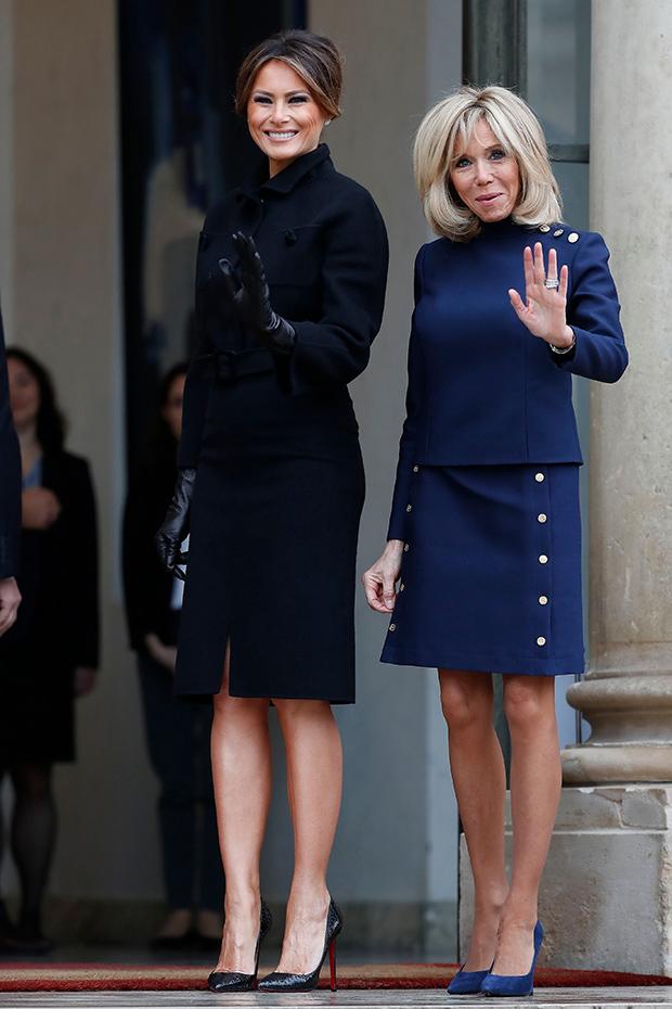 Melania Trump, Brigitte Macron