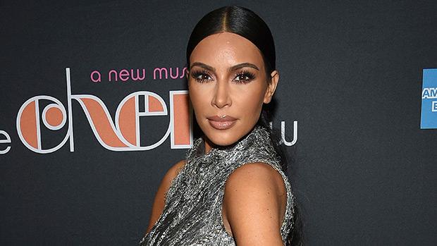 Kim Kardashian Silver Dress