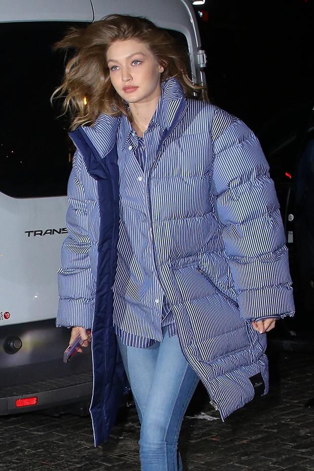 Celebrities puffer jackets