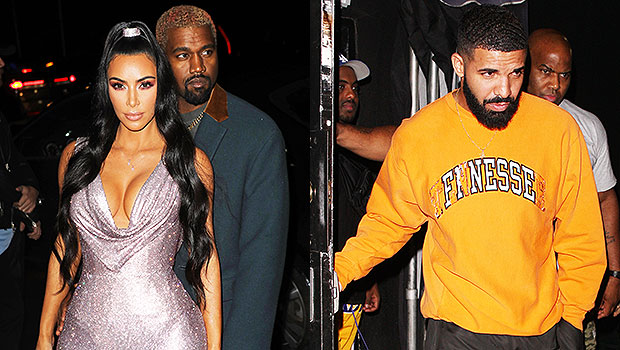 Kim Kardashian, Kanye West & Drake