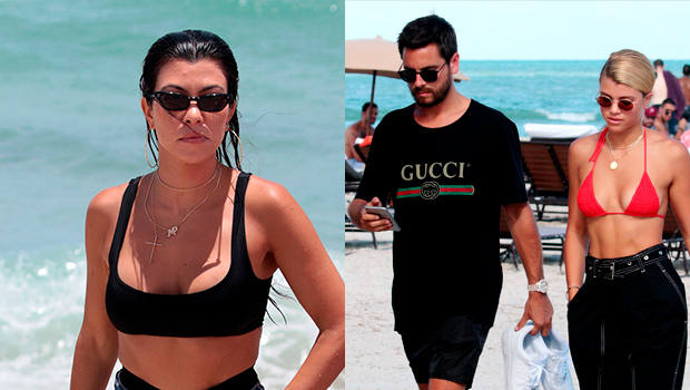 Kourtney Kardashian Sofia Richie Scott Disick Vacation