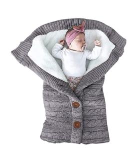 Knit & Fleece Swaddle Blanket
