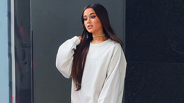 Ariana Grande & 17 More Stars Pairing Oversized Shirts With Thigh-High Boots — Pics.jpg
