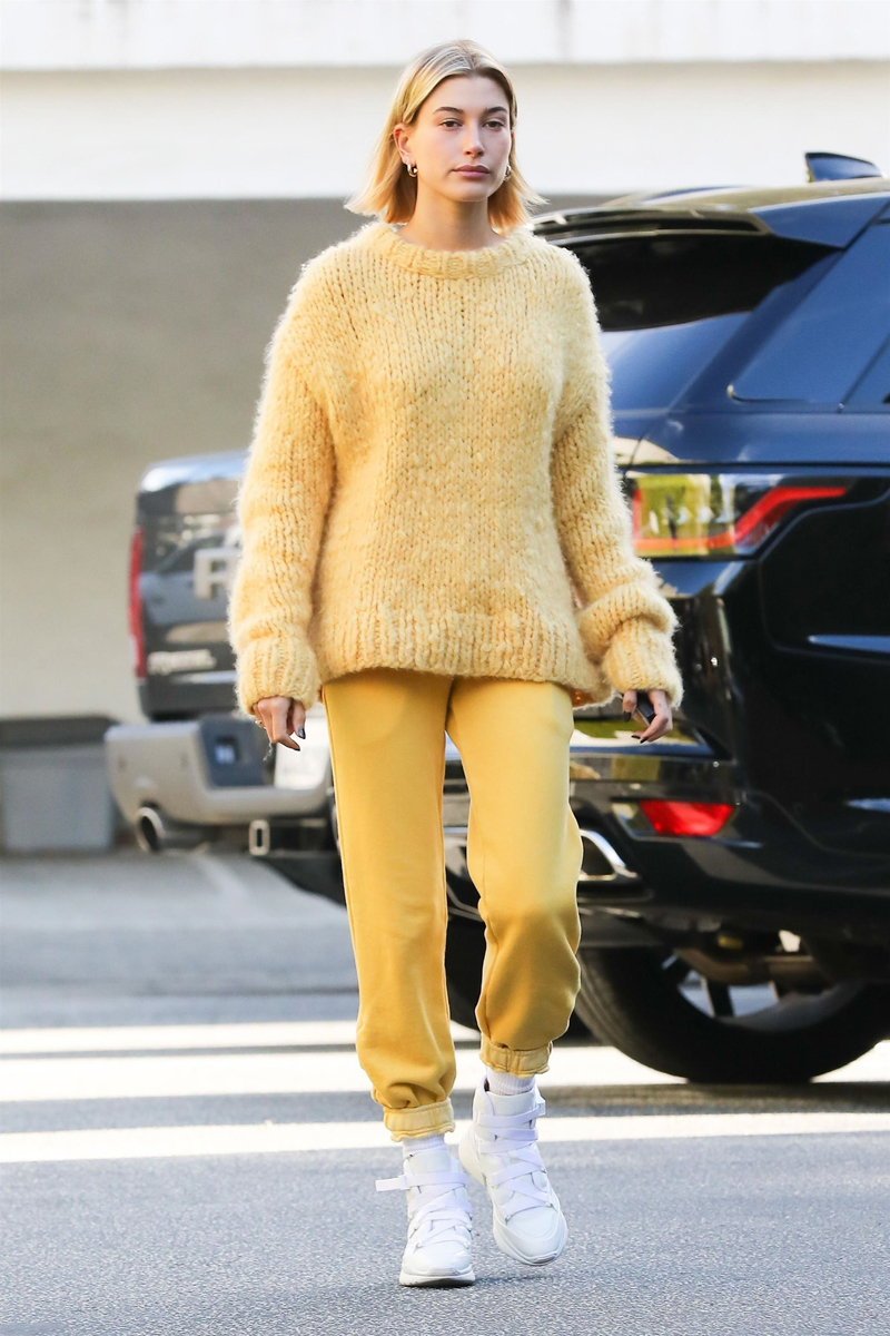 Hailey Baldwin Yellow Outfit