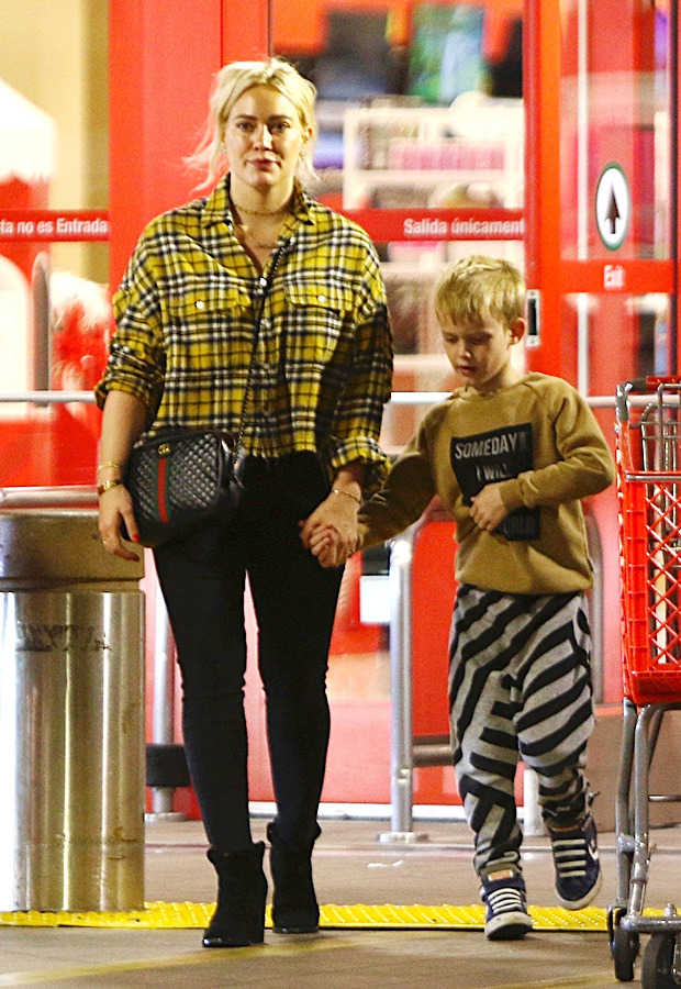 Hilary Duff & Son At Target In Studio City, CA on Dec. 1, 2018