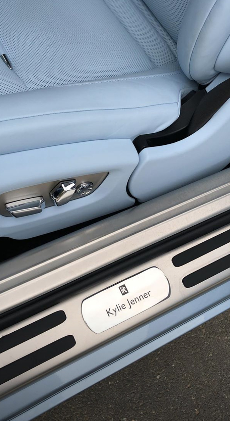 Kylie Jenner Ice Blue Rolls Royce
