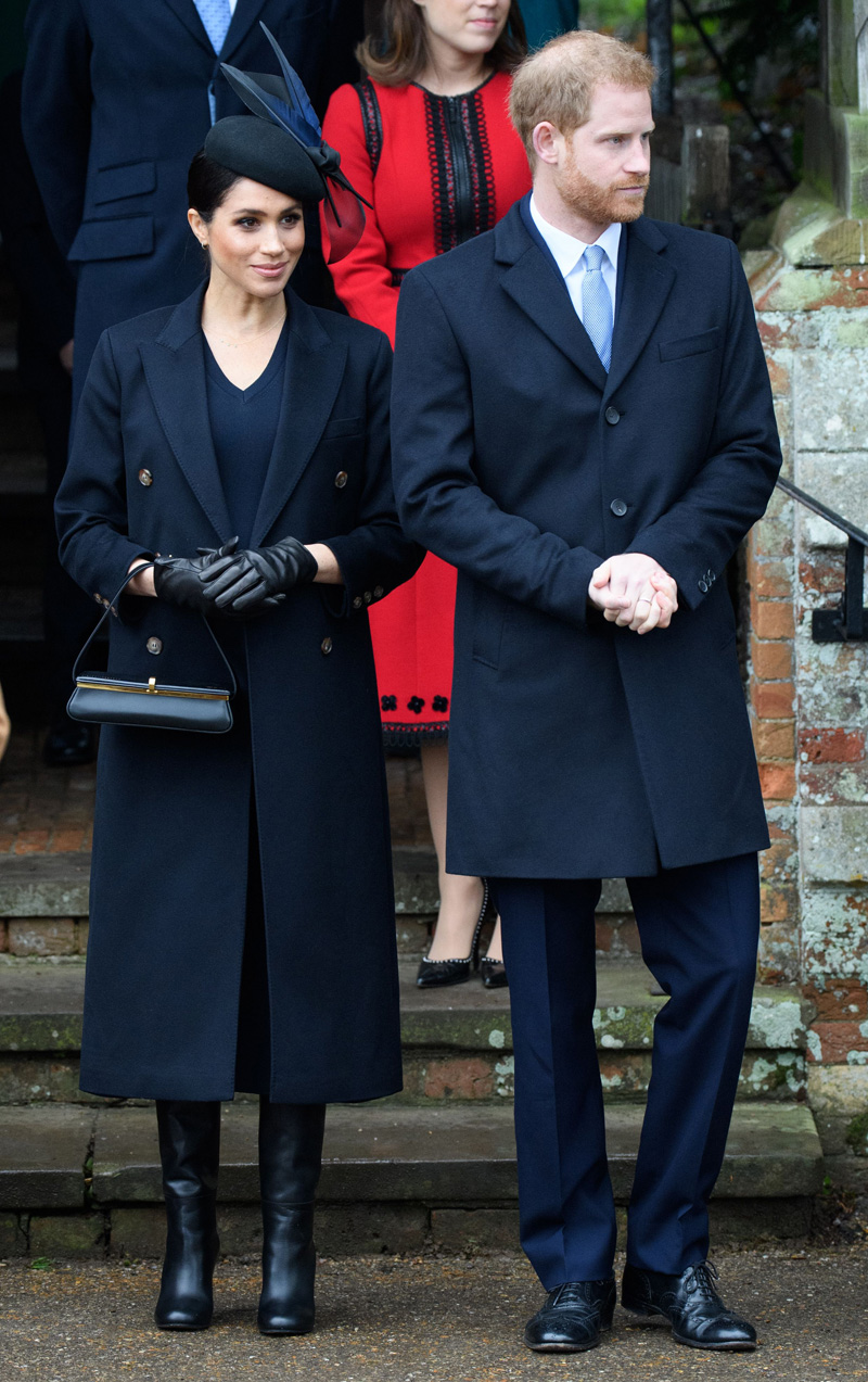 Meghan Duchess of Sussex and Prince Harry Christmas Day church service, Sandringham, Norfolk, UK - 25 Dec 2018
