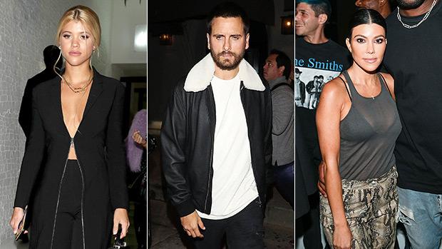 Sofia Richie, Scott Disick & Kourtney Kardashian