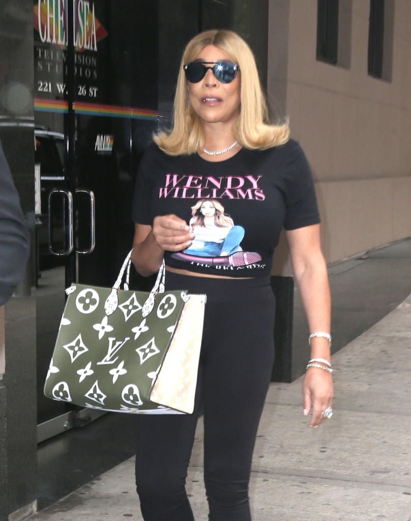 Wendy Williams seen out and about in New York City wearing a t-shirt with herself on it!Pictured: Wendy WilliamsRef: SPL5116072 160919 NON-EXCLUSIVEPicture by: SplashNews.comSplash News and PicturesLos Angeles: 310-821-2666New York: 212-619-2666London: +44 (0)20 7644 7656Berlin: +49 175 3764 166photodesk@splashnews.comWorld Rights