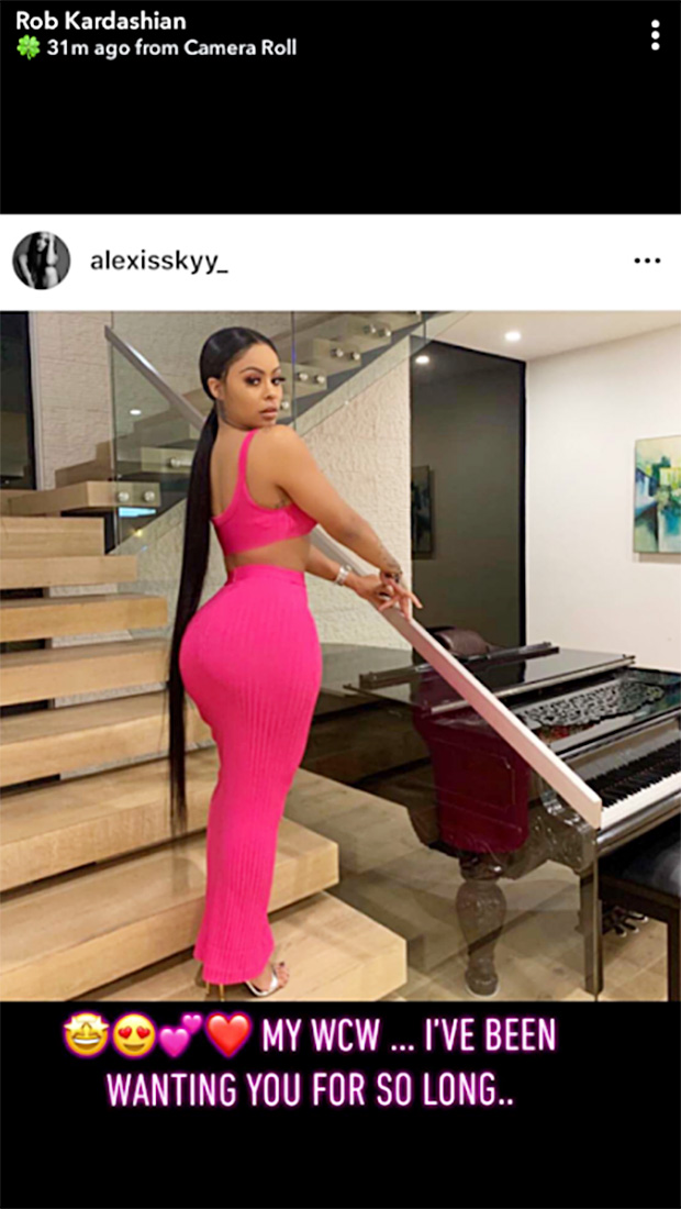 Rob Kardashian Alexis Skyy snapchat