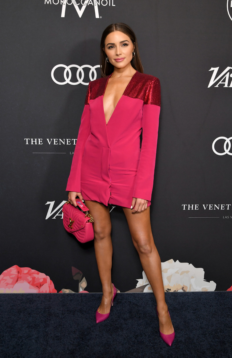 Olivia CulpoVariety's Power of Women, Arrivals, Los Angeles, USA - 12 Oct 2018 WEARING SALLY LAPOINTE DRESS BAG HANDBAG BY LOUIS VUITTON