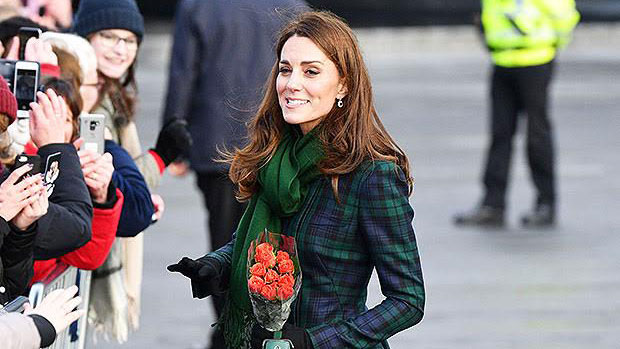 Kate Middleton plaid coat