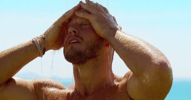 Colton Underwood Shower Scenes