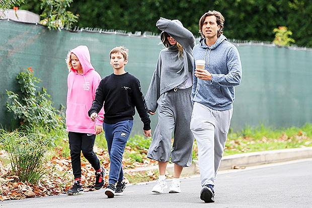 Gwyneth Paltrow, Son Moses, Husband Brad Falchuk and his son Brody in CA