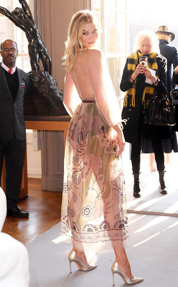 Karlie Kloss Sheer Dress