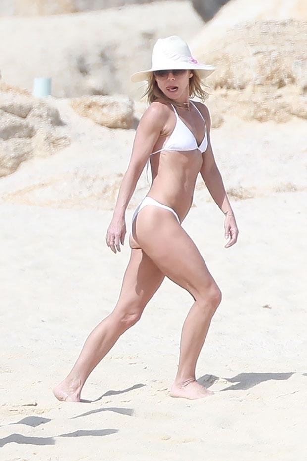 Kelly Ripa white bikini