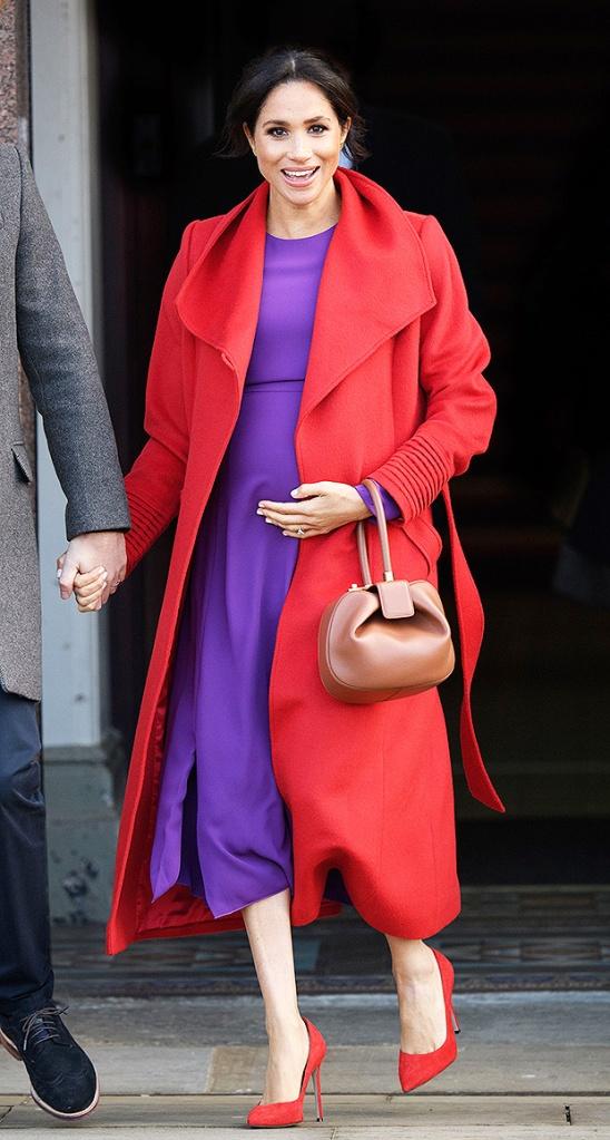 meghan markle purple dress