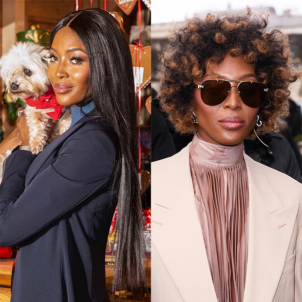 Naomi Campbell Before/After Hair