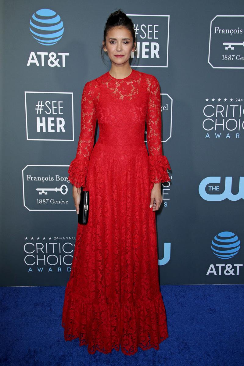 Nina Dobrev24th Annual Critics' Choice Awards, Arrivals, Barker Hanger, Los Angeles, USA - 13 Jan 2019