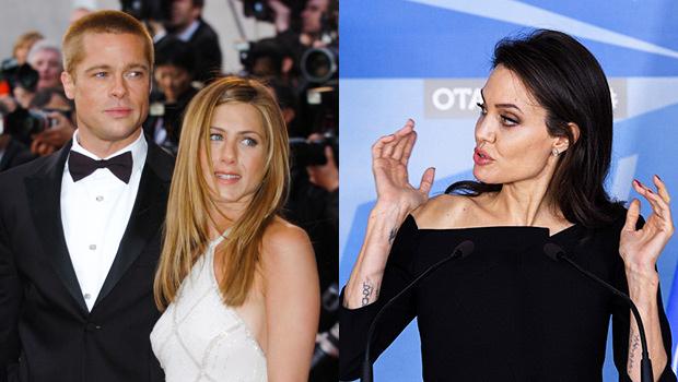 Angelina Jolie Jennifer Aniston Brad Pitt