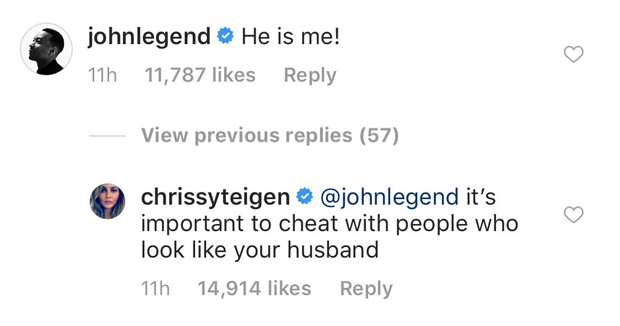Chrissy Teigen Jokes Cheated