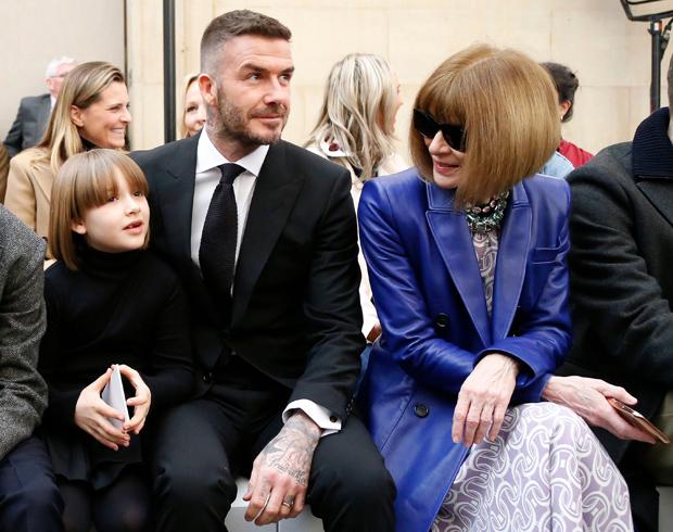 David Beckham, Harper Beckham, Anna Wintour