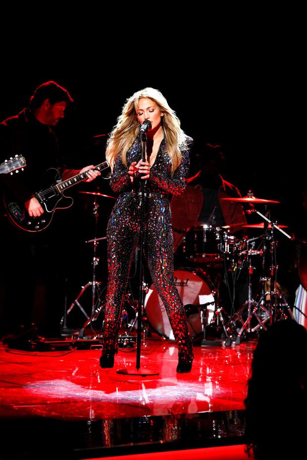 """ELVIS ALL-STAR TRIBUTE -- """"Show"""" -- Pictured: Jennifer Lopez -- (Photo by: Trae Patton/NBC)"""