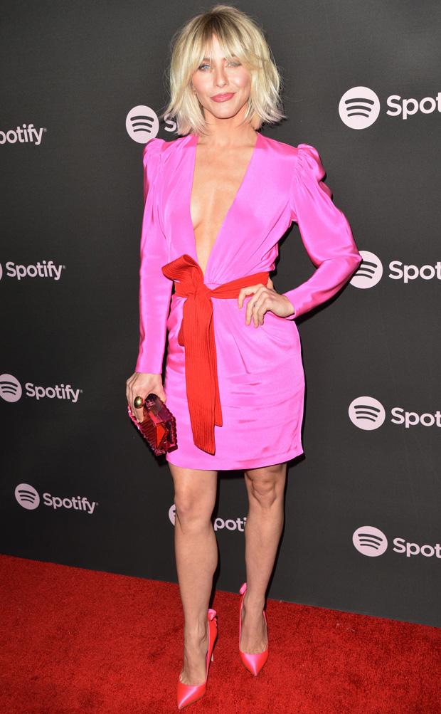 Julianne Hough Pink Mini Dress