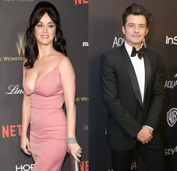 Katy Perry & Orlando Bloom Golden Globes 2016