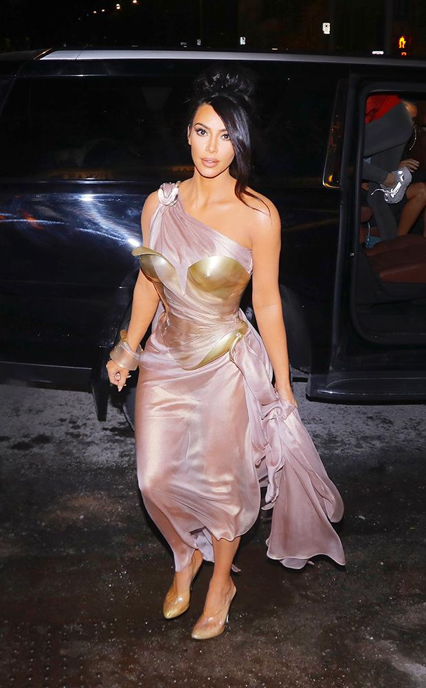 Kim Kardashian at Thierry Mugler exhibition opening in Montreal