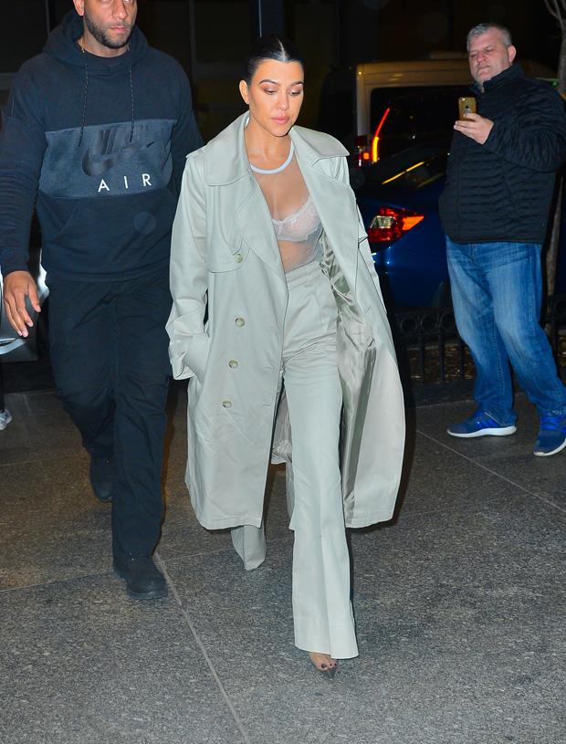 Kourtney Kardashian Sheer Shirt