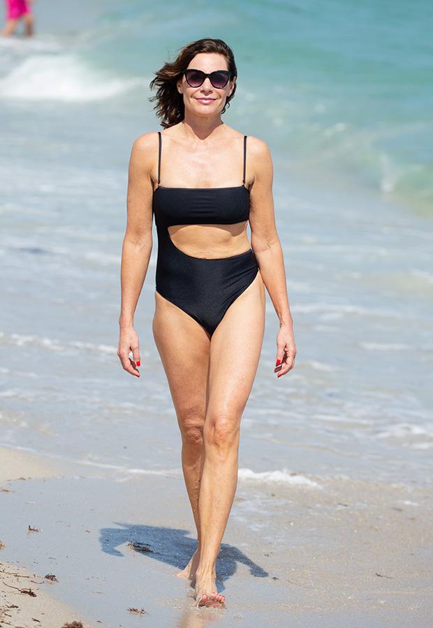 Luann de Lesseps Cutout Swimsuit