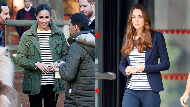 Meghan Markle Kate Middleton stripes jeans