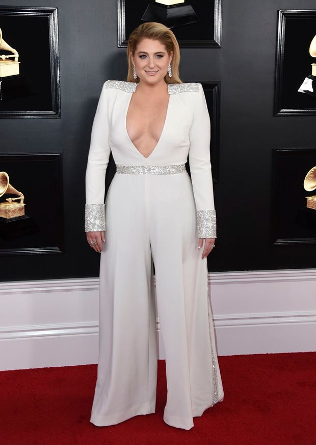 Meghan Trainor arrives at the 61st annual Grammy Awards at the Staples Center, in Los Angeles 61st Annual Grammy Awards - Arrivals, Los Angeles, USA - 10 Feb 2019