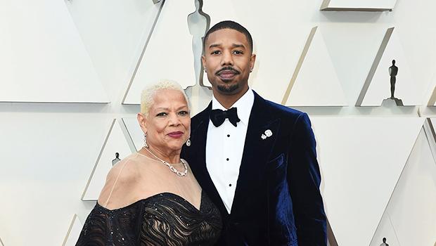 Michael B. Jordan & His Mother Donna Jordan At Oscars 2019
