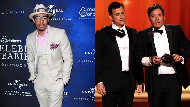 Nick Cannon, Jimmy Fallon and Jimmy Kimmel