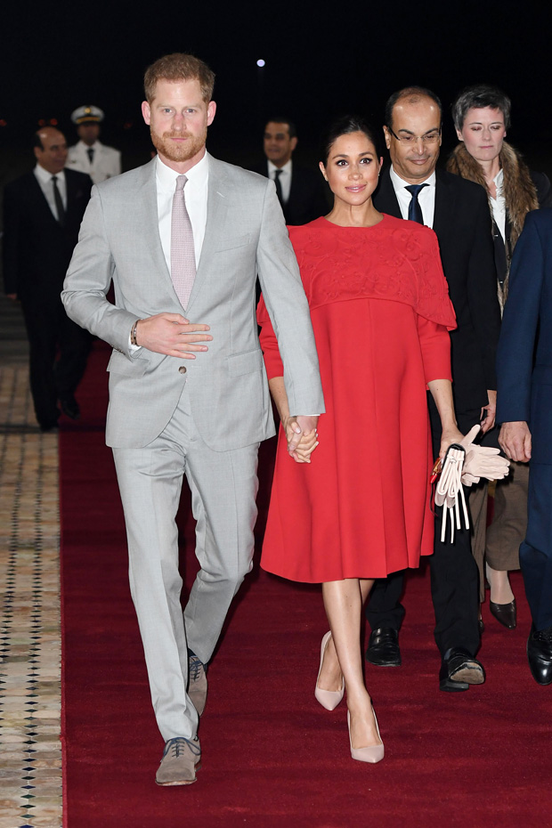 Prince Harry and Meghan Duchess of Sussex arrive at Casablanca airportPrince Harry and Meghan Duchess of Sussex visit to Morocco - 23 Feb 2019
