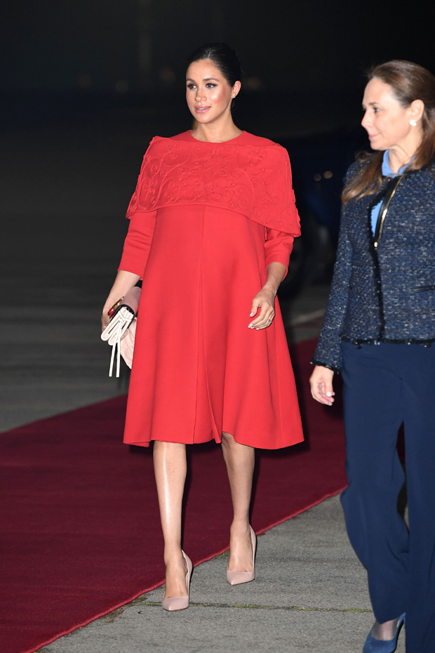 Meghan Duchess of Sussex arrives at Casablanca airportPrince Harry and Meghan Duchess of Sussex visit to Morocco - 23 Feb 2019