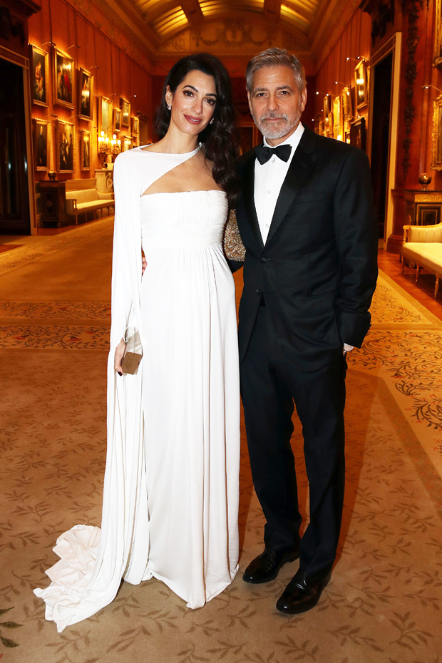 Amal Clooney White Gown