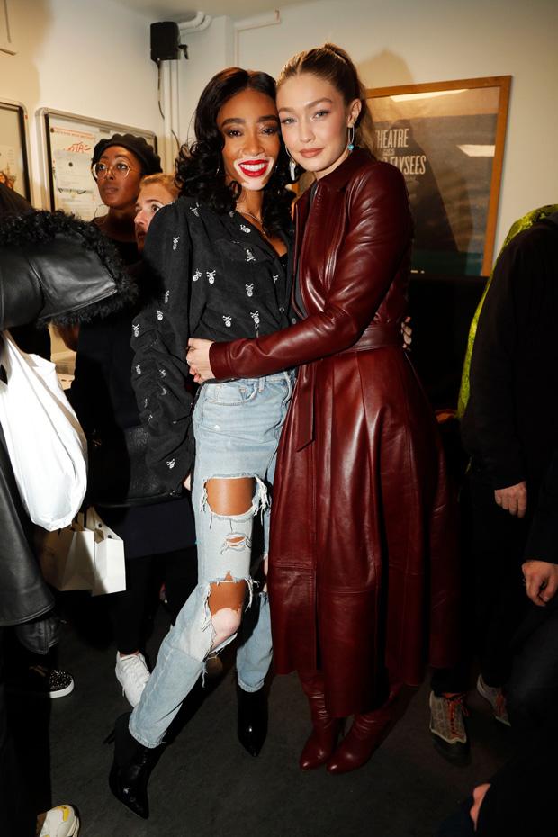 Winnie Harlow and Gigi Hadid backstageTommy Hilfiger show, Backstage, Fall Winter 2019, Paris Fashion Week, France - 02 Mar 2019
