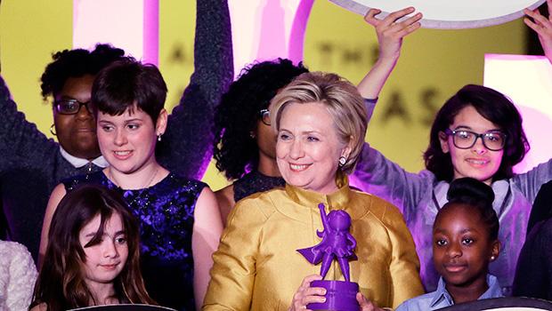 Hillary Clinton With Award