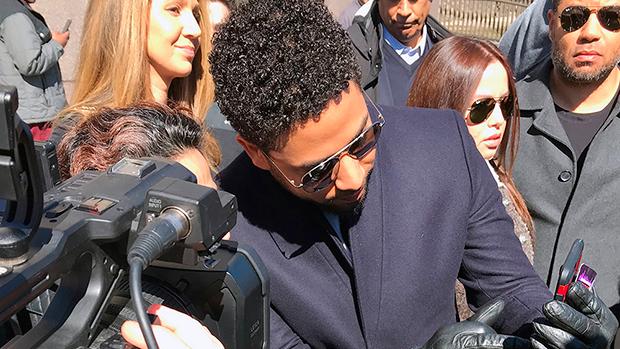 Jussie Smollett Outside Court March 26, 2019