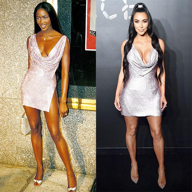 Kim Kardashian Copying Naomi Campbell Outfits